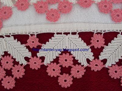 havlu kenarı dantel