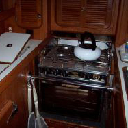 Galley Straps on a boat