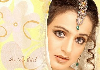 Amisha Patel  - Amisha Patel Eyes Wallpaper