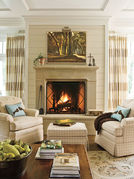 New home interior design household basic gallery 10 for How to decorate a living room without a fireplace