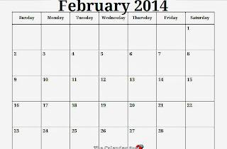 febrary Blank calendar 2014 | 2015 Blank Calendar - calendar en - WWW ...
