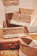 Dip Dyed Baskets