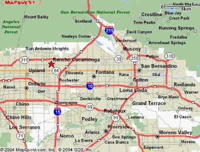 San Bernardino City Map 1