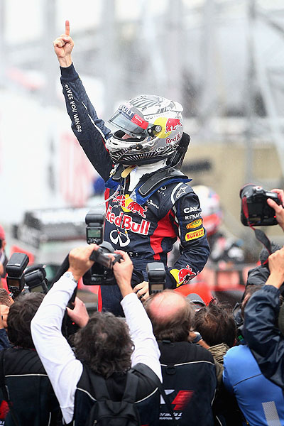Sebastian Vettel wins third F1 title