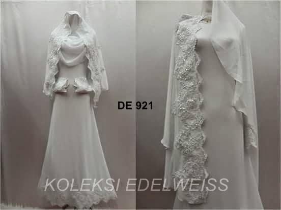 Dress Nikah Putih Saiz Hingga 50