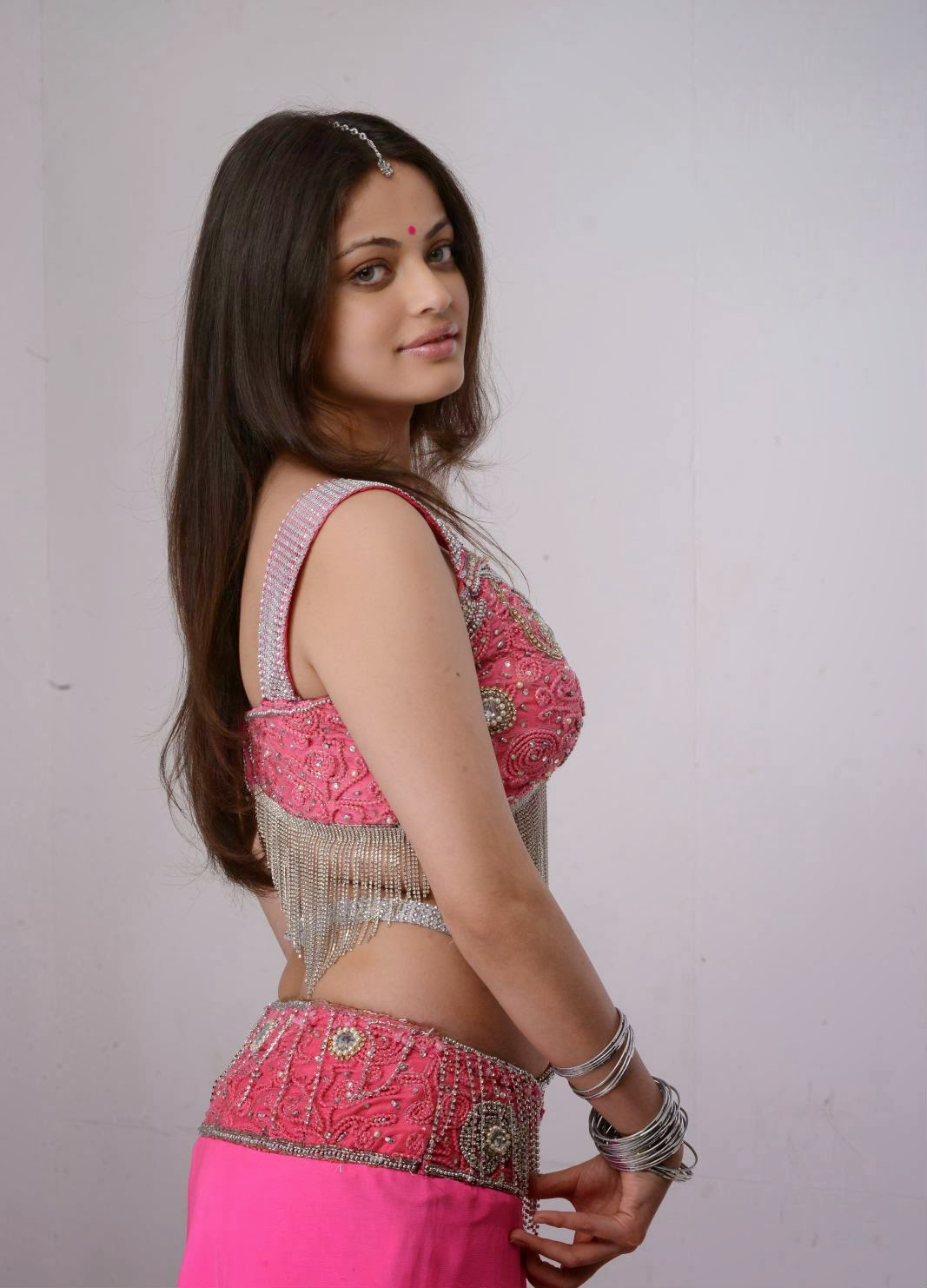 Sneha Ullal in Hot Pink Dress
