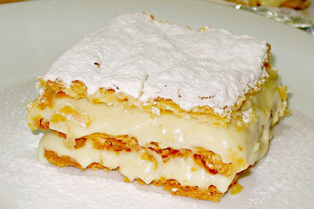 Ioanna's Notebook - Easy millefeuille with store bought puff pastry