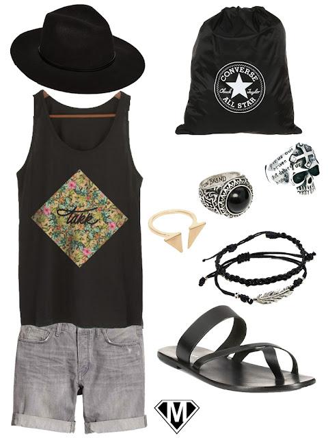 tenue homme boheme sandales hippie