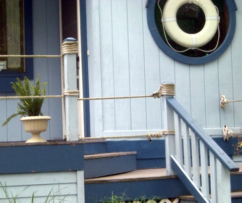 Nautical Garden Landscaping Ideas from a Home that Goes