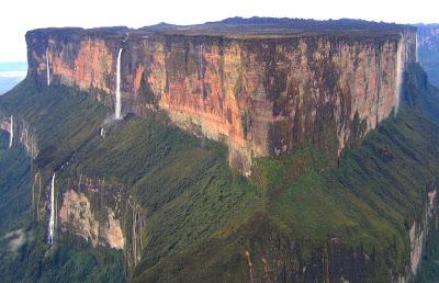 Gunung-gunung di bumi yang memiliki punacak rata