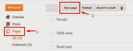 Otvaranje nove stranice na blogu