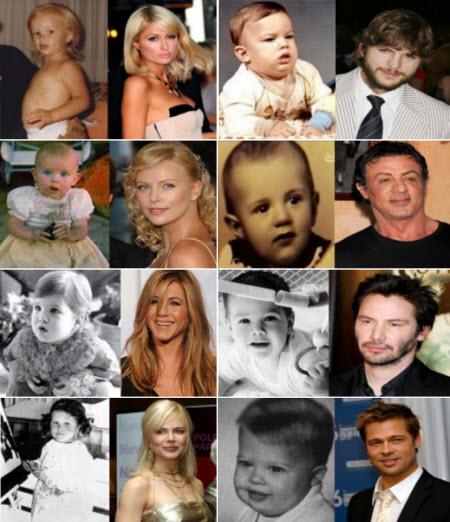 Los famosos y sus fotos cuando eran bebés