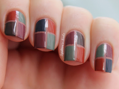 Autumn Square Nails