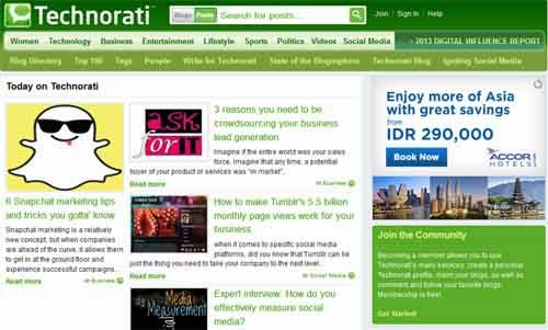 tips seo,Technorati Mesin Pelacak Blog