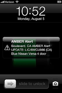 Amber Alert on phone: California Cell Phones Screech to Life with Statewide Amber Alert
