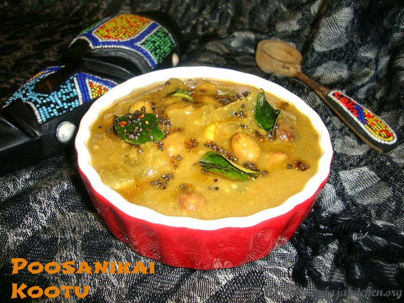 image of Poosanikai Kootu With Tamarind / Ash Gourd Kootu Recipe