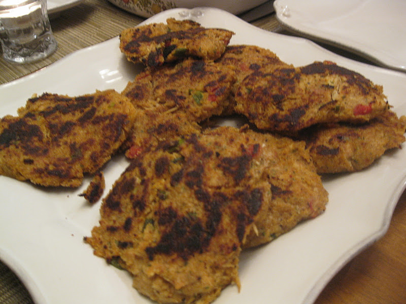 Hope You're Hungry: Chicken Cakes with Creole Sauce