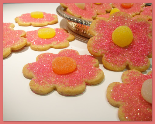 Sparkling Summer Flower Cookies