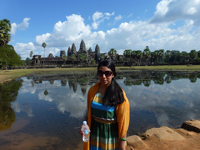 The temple of Angkor Wat reflects in the moat in Siem Reap, Cambodia