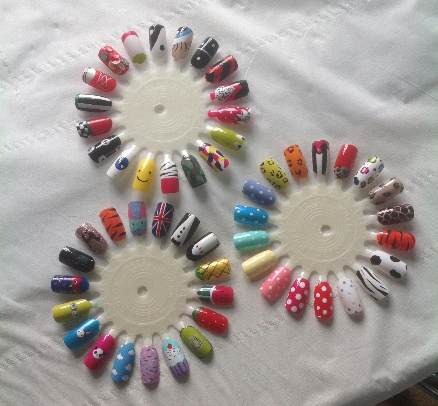 Kawaii Nail Art: Pamper Party Nail Art wheels