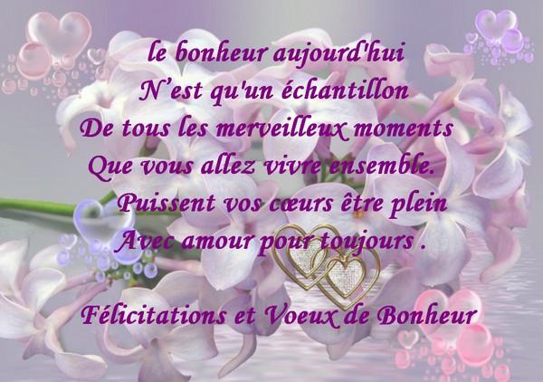 exemples de textes et cartes de flicitations de mariage - Texte De Felicitation De Mariage