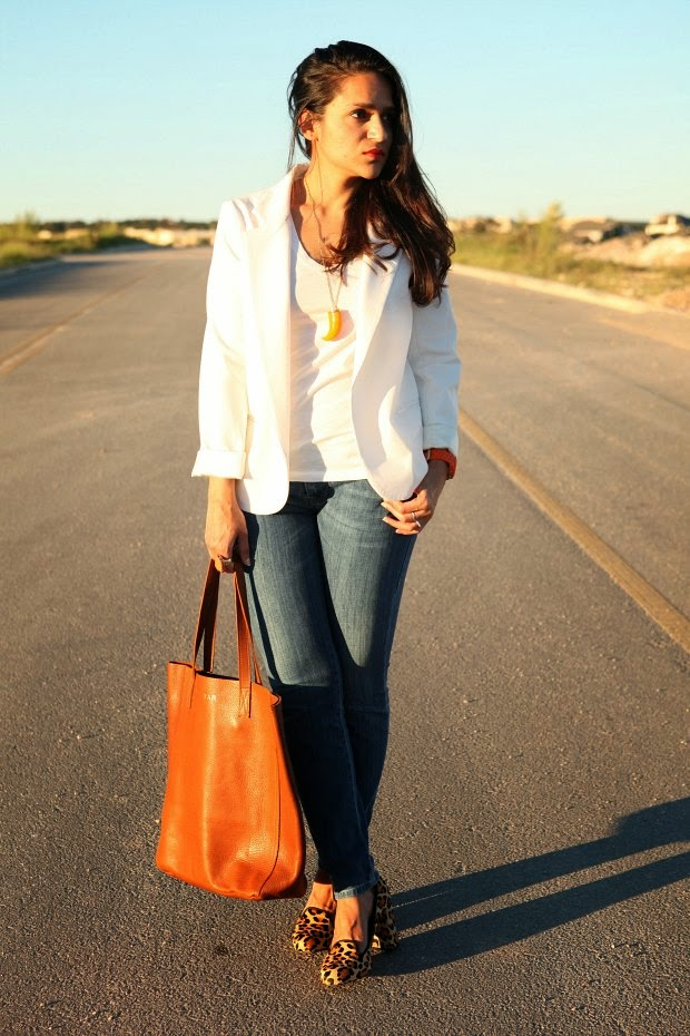 Urban Outfitters Jacket, Banana Republic Tank, Miss Sixty Jeans, Cuyana Bag, Cole Haan Shoes Tanvii.com