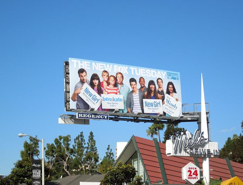 Fox Tuesday comedy billboard Fall 2012