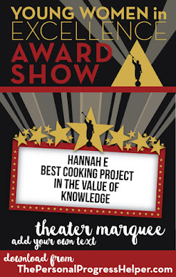 Young Women in Excellence Award Show Theater Marquee to add your own text to!