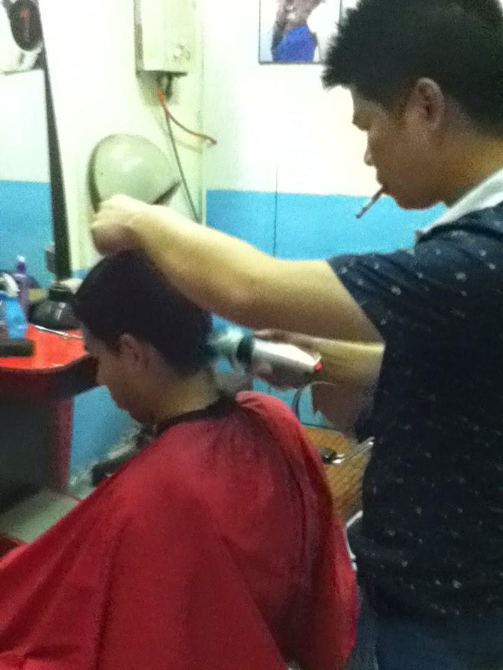 Barbershop in China