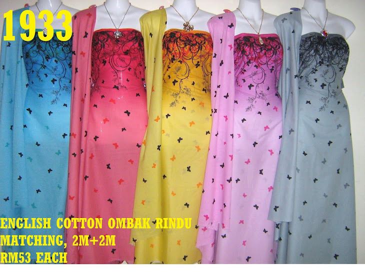 ECO  1933: ENGLISH COTTON OMBAK RINDU MATCHING, 2M+2M