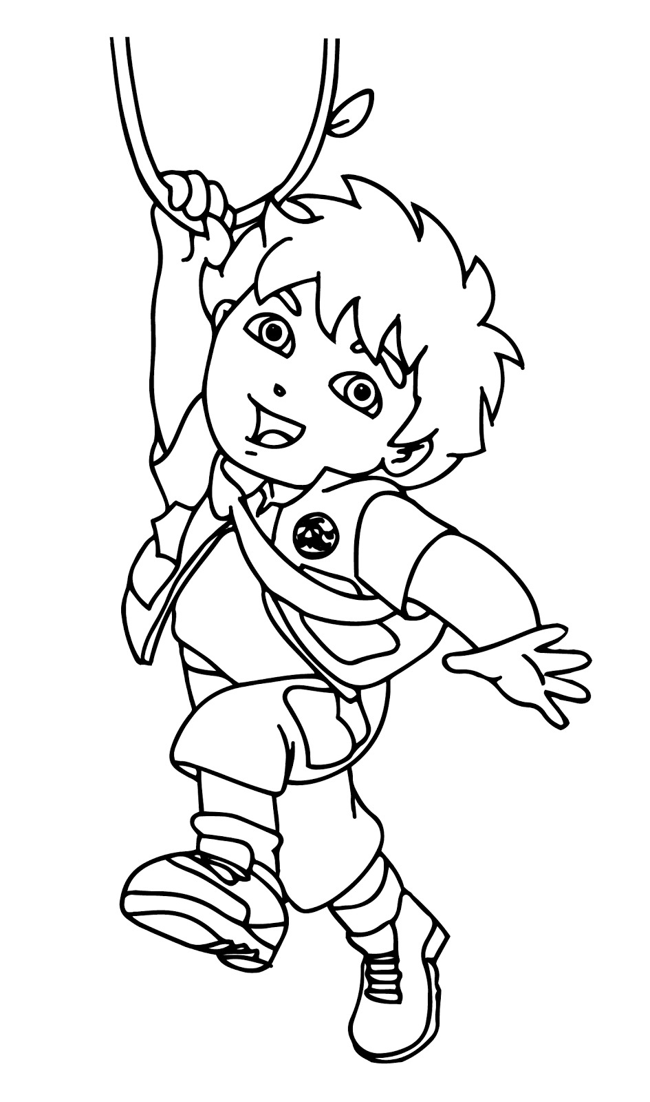 Páginas para colorear originales Original coloring pages: Go Diego ...