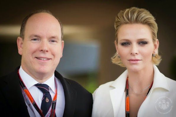 Princess Charlene And Prince Albert Attended The Monaco Formula One Grand Prix