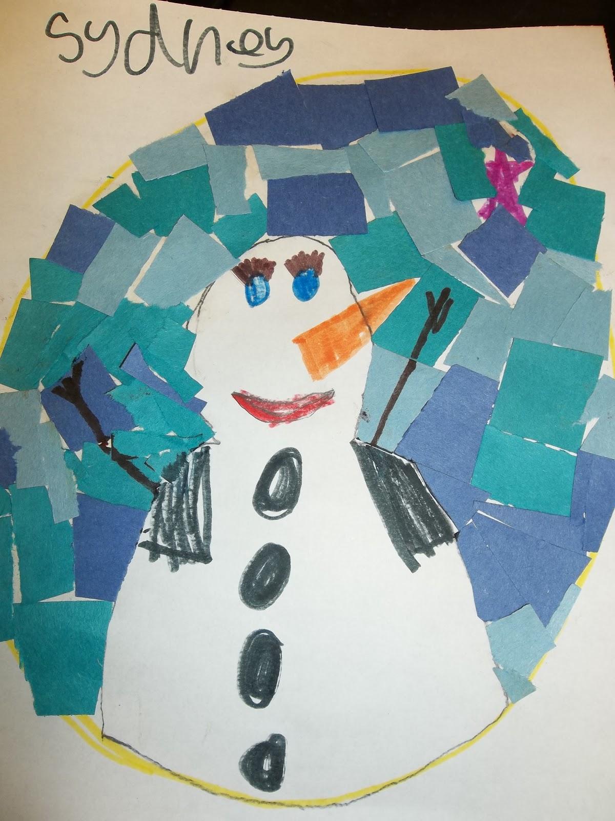 Cute Snowman mosaic Blackfoot Community Center From