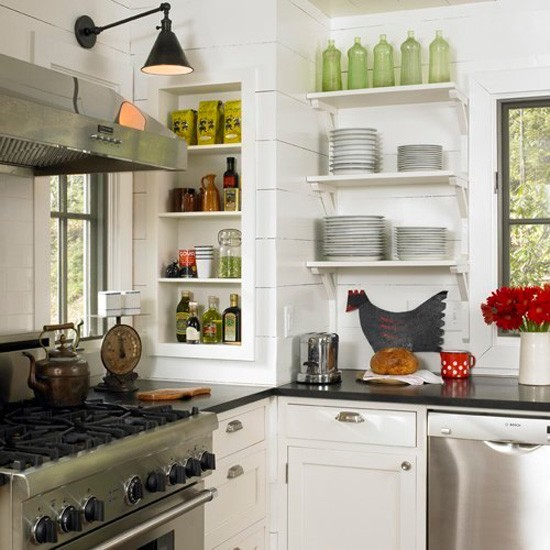 Open Concept Kitchen Shelves: Dawn's Built-ins: Wiring Spotlights For The Bookcases