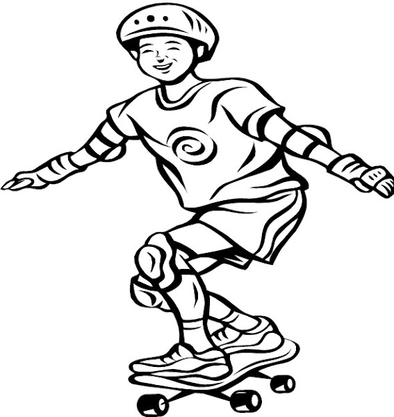 Printable Coloring Pages Of Skateboards
