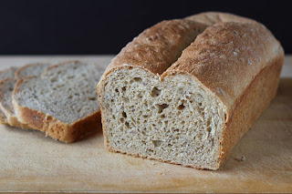 spelt and flax loaf