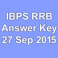 Institute of Banking and Personnel Selection Answer 27th Sep 2015