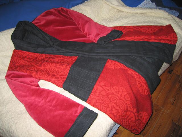 płaszcz patchworkowy