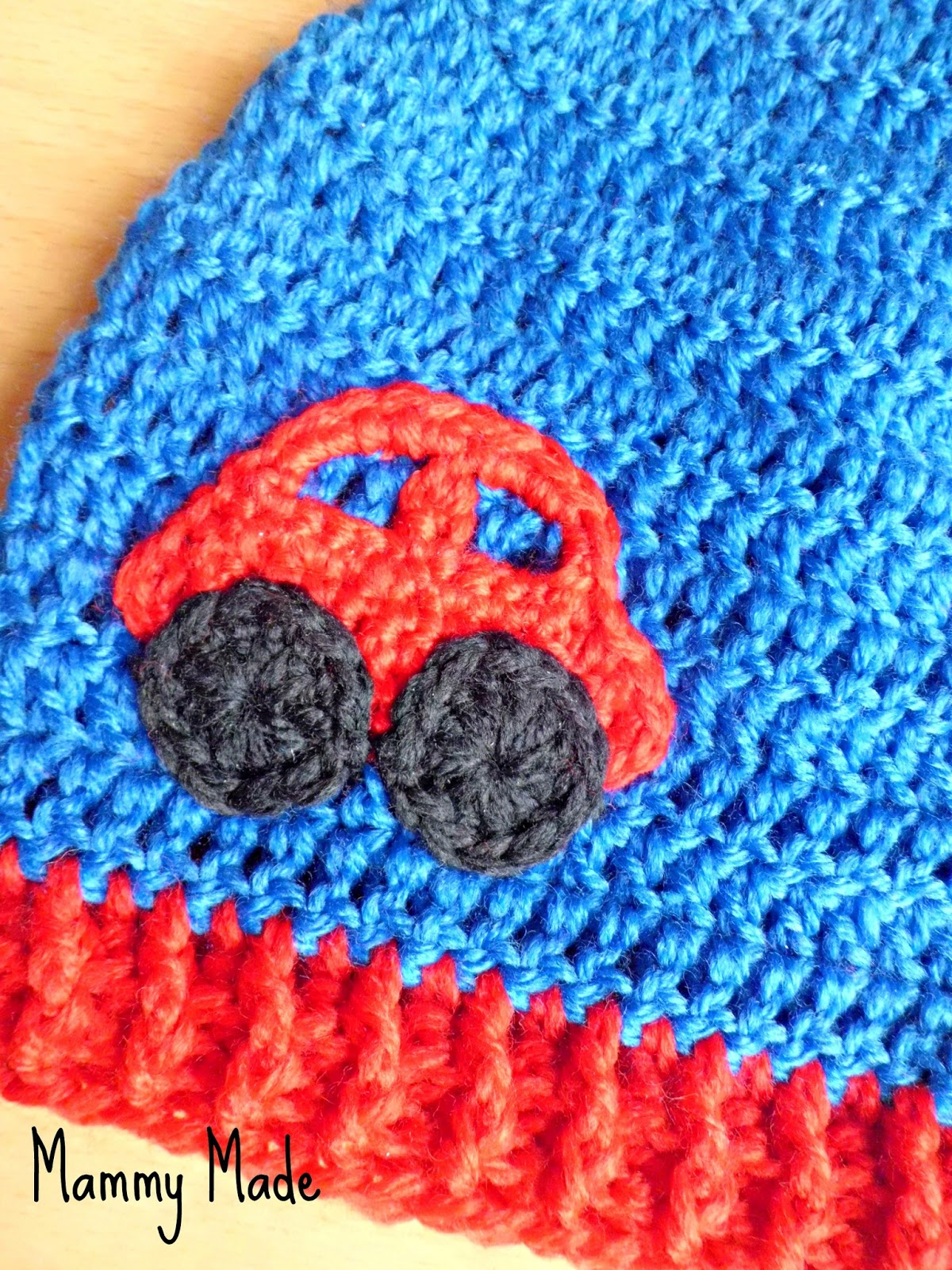 Mammy Made: Crochet car appliqué