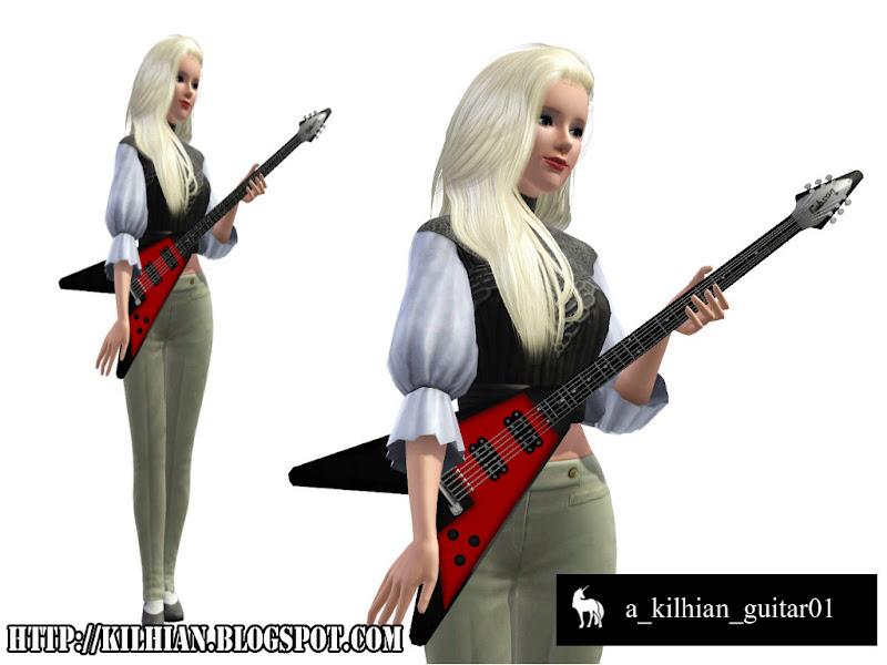 Pose Set N°01 - On Stage! by Kilhian Guitar01