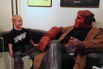 Ron Perlman as Hellboy with a Make A Wish Day