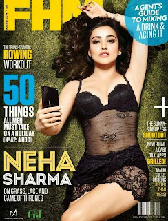 Neha Sharma awesomely Spicy on Cover Page of FHM India Magazine August 2014