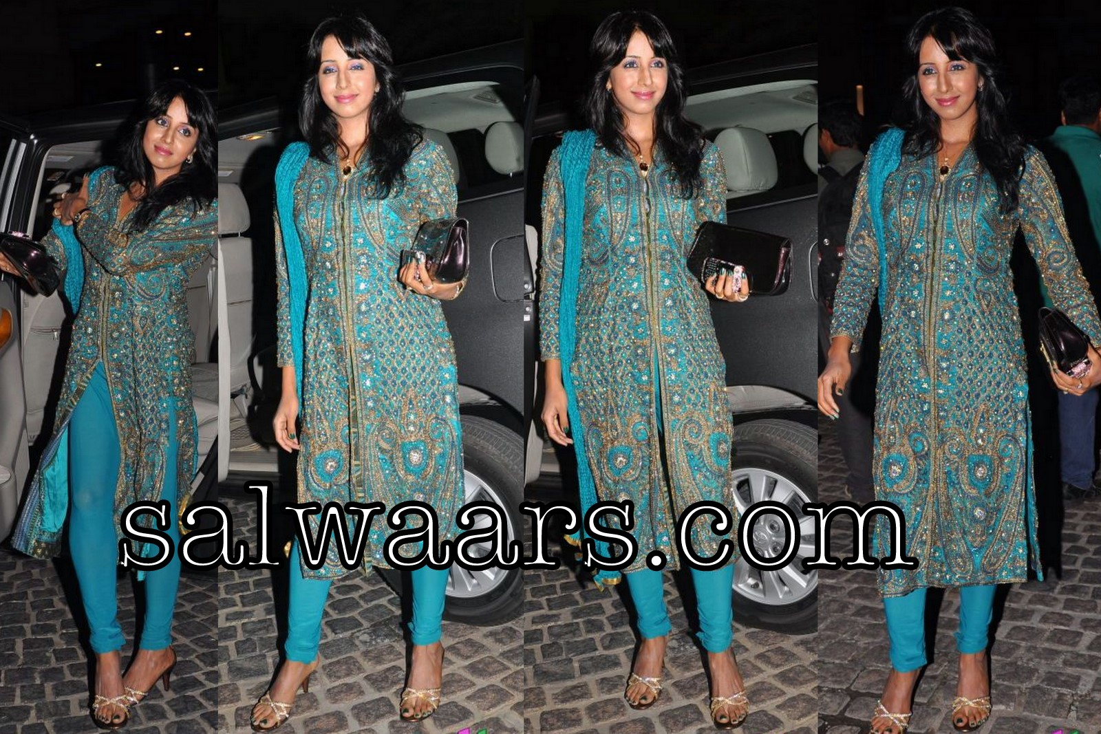Indian Dresses Sanjana In Embroidery Salwar Kameez At Th Film Fare