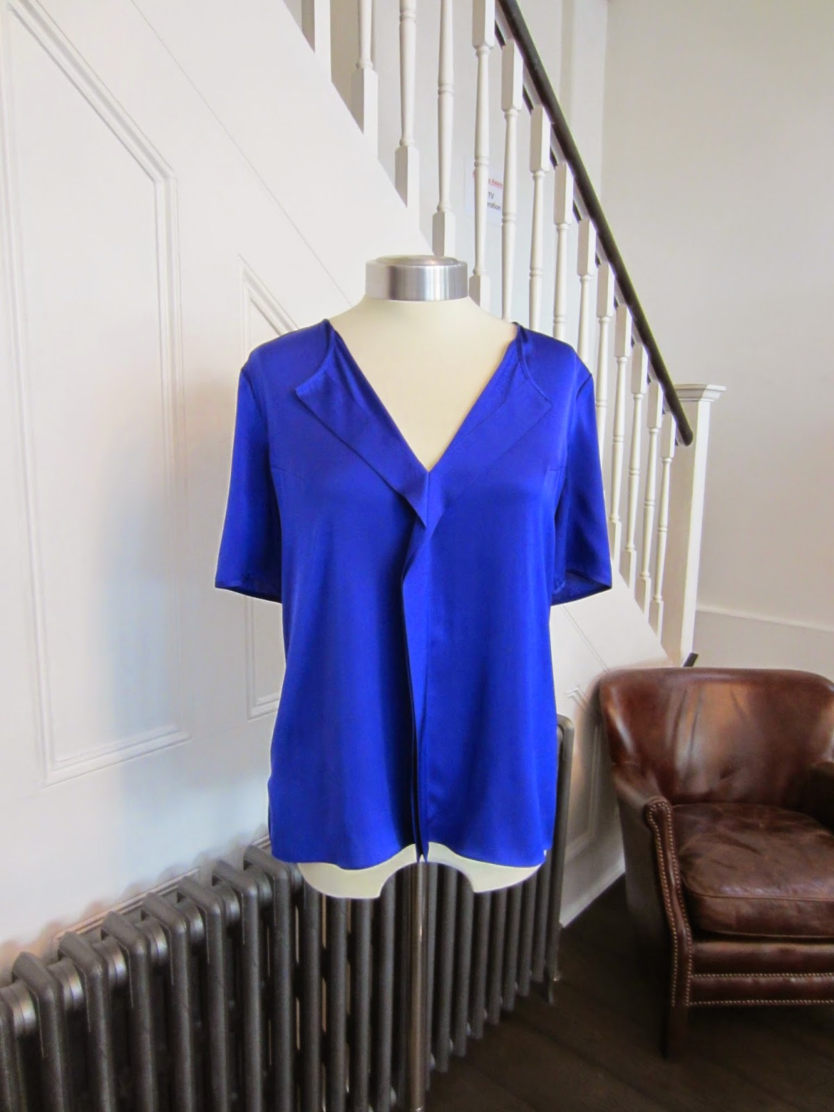 Hugo / Hugo Boss Blue Silk Top