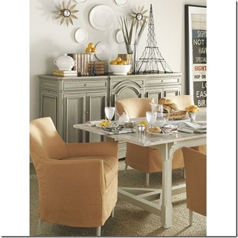 suzanne kasler via home and interior design picture - Dining Room Sideboard Decorating Ideas