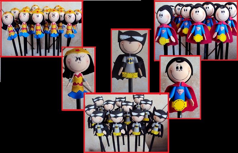 Aparador Blanco Y Negro ~ Fofurinhas do Artesanato Ponteiras super heróis