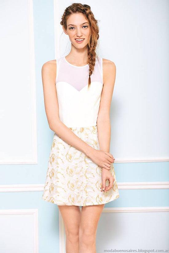 Tops, blusas y faldas cortas Uma verano 2015 moda.