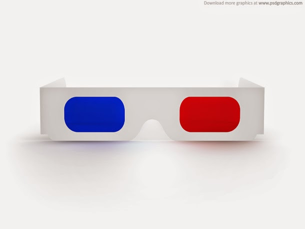 3D Glasses PSD
