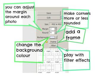 Photoscape collage adjustments