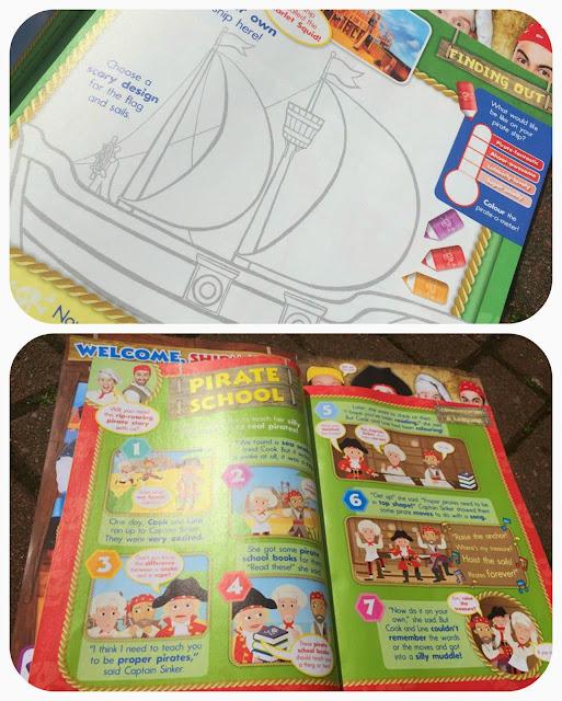 Swashbuckle magazine, colouring